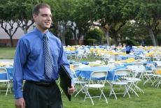 Business Man At Banquet